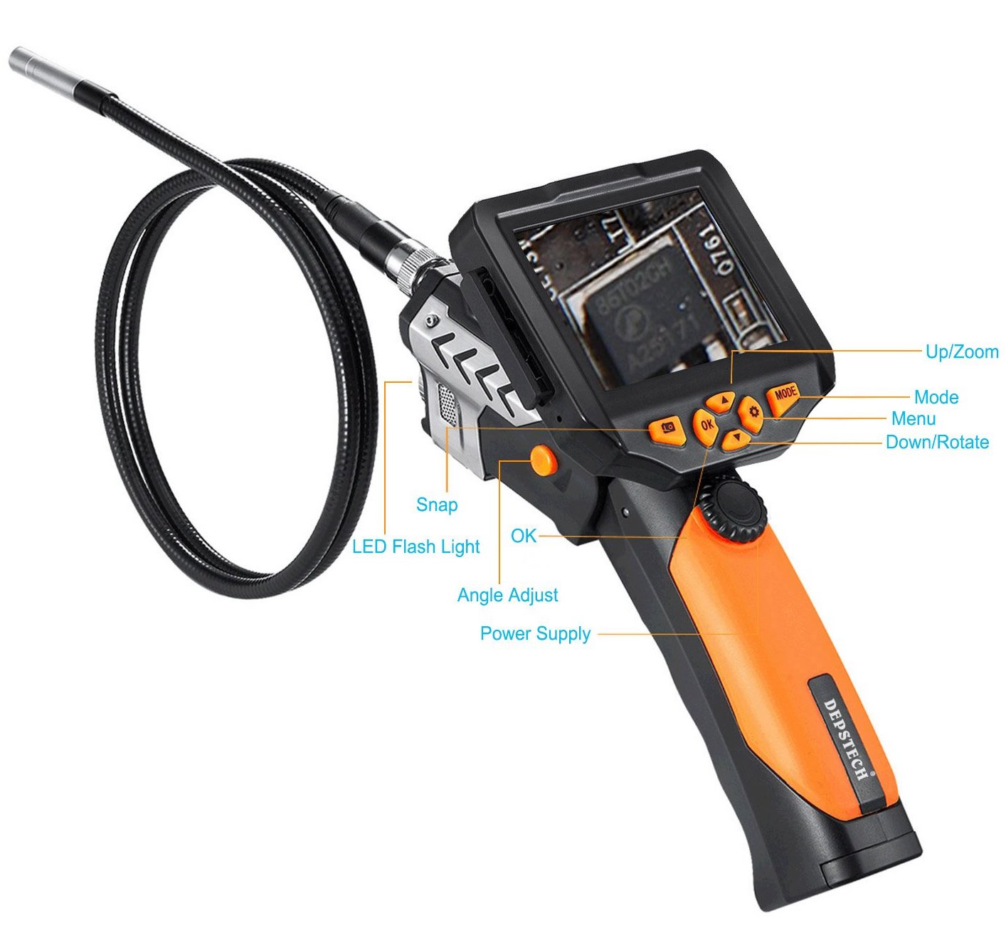 DEPSTECH Waterproof LCD Borescope features