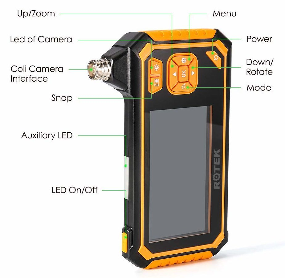 ROTEK Industrial Endoscope features